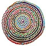 Just Contempo Tapis rond tressé, multicolore, 60cm