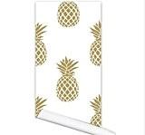 JY$ZB Portable simple or décoratif ananas imperméable anti-fouling humidité auto-adhésive canapé fond d'écran TV fond 122cm * 53cm , yellow