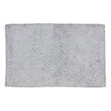 Kela 20435 tapis de bain 100% coton, 120 x 70 cm, 'Ladessa', uni gris clair