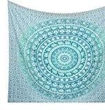 kesrie Suspension Murale Mandala hippie Tapisserie coton indien Couvre-lit imprimé coloré