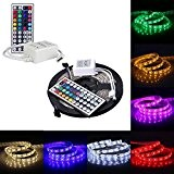 KiKa Monkey 5M Ruban LED 5050 RGB SMD Multicolore 300 LEDs Etanche Bande 60W Adapteur Flexible Strip Light + télécommande ...