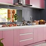 KINLO 0,61 x 5M Autocollant PVC auto-adhésif armoires de cuisine / porte/meubles/Mur - Rose