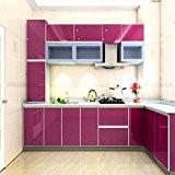 Kinlo Elégant Papier peint de cuisine 0,61 * 5 M violet films de meubles en PVC autocollant d'armoires de cuisine ...