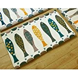 Kleitung Cuisine tapis rectangulaire tapis de porte chambre tapis de porte tapis matelas mat tapis de porte de dessin animé ...