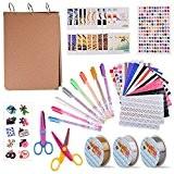 KUUQA 30 Feuilles d'Album de Papier Noir Album de Bricolage avec Boîte de Rangement et Kit de Bricolage Accessoires