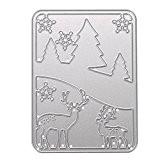 La Cabina Album de Noël Carte de Cerf Arbre Papier Découpé Journal par Main Craft Stencil