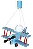 Lampe Suspension Enfant Aeronef Bleu