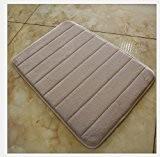 Landsell Corail cachemire de coton antidérapant absorbant Tapis lente rebond Tapis de cuisine de salle de bain de salle de ...