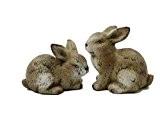 Lapin Hoppi/Céramique Lapin Marron 21070Double 14x 9cm H?: 9,5cm + H?: 12,5cm