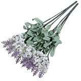 Lavande Fleur De Soie Artificielle Bouquet Décor De Maison Blanc