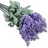 Lavande Fleur De Soie Artificielle Bouquet Décor De Maison Violet Clair