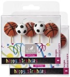 "Le Chat 1195199 Lot de 2 packs de 5 bougies ""ballons Basket & football"" sur pic"