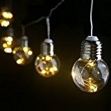 LE Guirlande Lumineuse LED Décoration Murale Blanc Chaud, 6M 25 Ampoules G45, Etanche, Fêtes Jardin Mariage Terrasse Pelouse