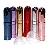 Lenhart Lot de 86pcs 6ml Portable Mini parfum rechargeable Parfum après-rasage Atomiseur vide Flacon pulvérisateur avec 2Entonnoir de remplissage pour ...