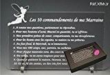 Les 10 commandements de MARRAINE - Fée texte Junior - Cadeau Baptême & Communion