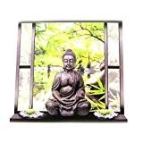 Les Trésors De Lily [M9119] - Sticker trompe l'oeil 'Jardin Zen' Bouddha (50x70 cm)
