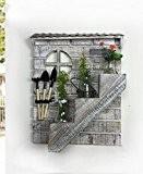 LIXIONG Escalier en bois massif Escalier suspendu mural suspendu Plante rétro Plateau en pot de fleurs avec outils Ensemble de ...