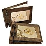 Lot d'album photo 75 feuilles et livre d'or Pour noces mariage Cadeau parfait
