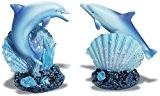 Lot de 2 figurines dauphin avec coquillage