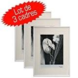 Lot de 3 cadres photo Galeria 20x30 cm (Blanc)