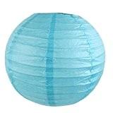 Lot de 5 Lanterne Boule Papier Japonais pour Décoration (Bleu clair, 10cm)
