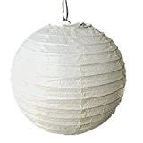 Lot de 5 Lanterne Boule Papier Japonais pour Décoration (Creme, 10cm)