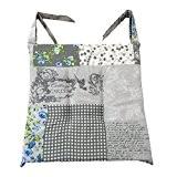Lot de 8coussins shabby gris rose bleu piquées au centre 40x 40Epaisseur 5cm, housse de chaise cuisine, cm