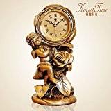 lpkoneMontres, European style pastoral horloge créative, chambre réveil quartz muet,3619g