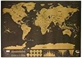 Luckies of London LUKSDT Carte à Gratter de Luxe Mondiale Personnalisée Edition Voyage Papier Multicolore 29,7 x 42 x 0,2 ...