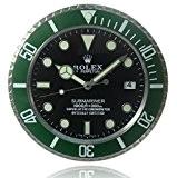 Lumineuse Rolex Wall Clock Kelpie Vert