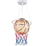 Luniquz Lustre LED / Lampe à Suspension Décoratif / Plafonnier LED / Lampe de Plafond Design Basket-ball Pour Chambre d'Enfant ...
