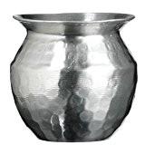Madam Stoltz Aluminium Hammered Vase by Madam Stoltz Aluminium Hammered Vase
