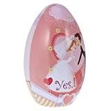MagiDeal Boîte Surprise en Métal Forme d'Oeuf de Pâques Coffret Décoratif pour Bonbons Chocolats Bijoux Cadeau Mariage - 2