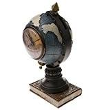 MagiDeal Globe Terrestre Tirelire Insolite Multifonctionnelle Boite de l'Argent avec Horloge Décor Bureau Cadeau Enfant