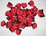 Magik Lot de 1000 pétales de rose en soie Pour mariage, fête, décorations de table, etc. Rouge/noir