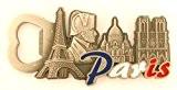 magnet aimant de frigo cuisine décapsuleur souvenir de France Paris métal cadeaux G93