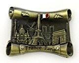 magnet aimant frigo cuisine souvenir France Paris métal cadeaux G209BZ 7X5cm