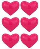 Magnets glamour aimant frigo réfrigérateur (x6) - Coeur