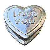 """Magnifique Petite Boîte à Bibelots en Form de Coeur """"Love You To The Moon (Je T'Aime à la Lune)"""", Fabrication ..."""