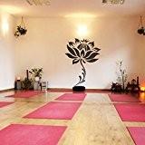 """mairgwall Lotus Yoga Studio Sticker mural en vinyle Fleur Decor Salon en vinyle, Vinyle, Personnalisé, 60""""h x45""""w"""