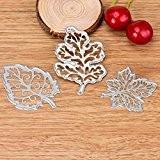 Malloom® Coeur de fleur de découpe en métal matrices pochoirs Album de Scrapbooking de bricolage Papier Craft (Taille unique, J)