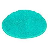 Malloom Douce Chambre De Bain Douche à L'étage Tapis Rond Tapis Anti-Dérapant (Bleu)