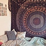 Mandala Hippie Tapestry, Wall Hanging, Handicrunch Popular Handicrafts Hippie Mandala Bohemian Psychedelic Intricate...