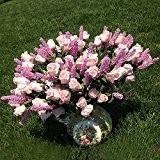 Mariage Mariée 9têtes Lavande Rose Fleurs Artificielles Hortensia Pivoine Fleurs en soie décoration
