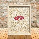 Mariage unique Gifts cadre de cœur Boîte en bois livre d'or de mariage marié et mariée Nom personnalisé avec date ...