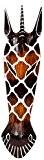 Masque mural bois Girafe - africain - 50 cm (M2)