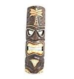 Masque Tiki h50cm en bois sculpté. fabrication artisanale.
