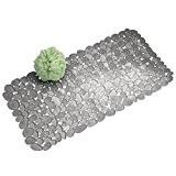mDesign grand tapis de douche antidérapant – paillasson pour salle de bain avec ventouses – tapis de bain à utiliser ...