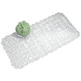 mDesign tapis de bain avec ventouses – tapis de douche antidérapant – accessoire de salle de bain – fixation sûre ...