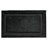 mDesign Tapis de salle de bain, non glissant, en microfibre souple - 86 x 53 cm, Noir